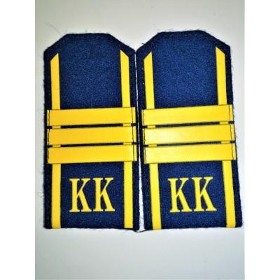 Погоны КК Сержант 3 лычки, васильковое сукно (7-1-067)