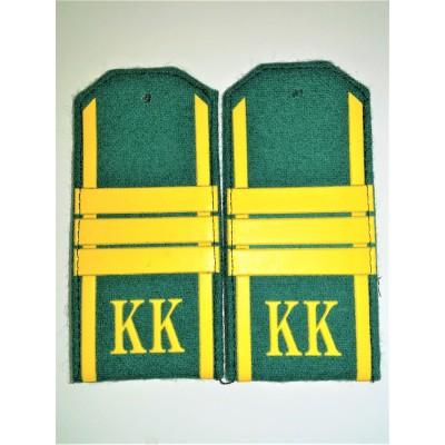 Погоны КК Сержант 3 лычки, зеленое сукно (7-1-071)