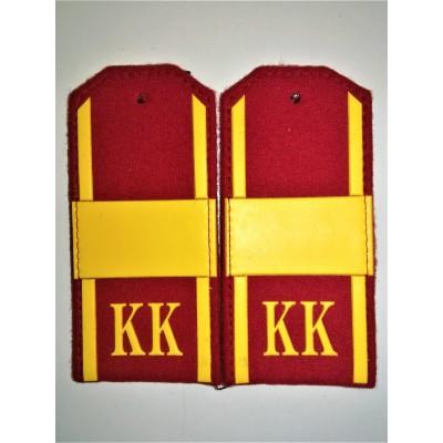 Погоны КК Ст.Сержант, 1 широкая лычка, красное сукно (7-1-064)