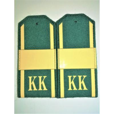 Погоны КК Ст.Сержант, 1 широкая лычка, зеленое сукно (7-1-072)