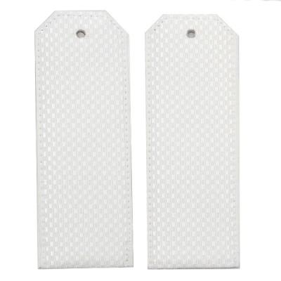 Погоны, рифленая ткань, белые (7-1-038)
