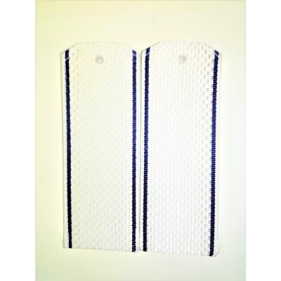 Погоны рифленые белые с васильковым кантом (7-1-079)