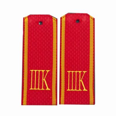 Погоны ШК, 13 см, рифленая ткань, красные (7-1-031)