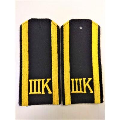 Погоны ШК, вышивка, черные (7-1-077)