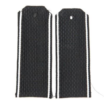 Погоны ВМФ, рифленые, черные, белый просвет (7-1-045)