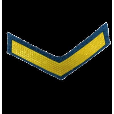Шеврон (курсовка) 1 курс, пластизоль, голубой (7-3-036)