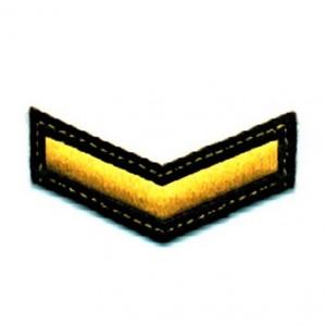 Шеврон (курсовка) 1 курс, вышивка, черный (7-3-003)