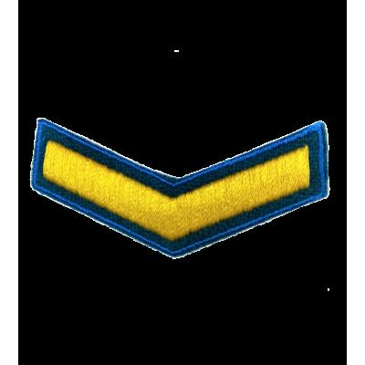 Шеврон (курсовка) 1 курс, вышивка, васильковый (голубой) (7-3-043)