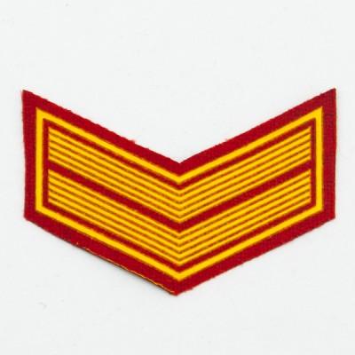 Шеврон (курсовка) 2 курс, пластизоль, красный (7-3-012)