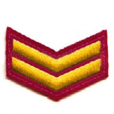 Шеврон (курсовка) 2 курс, вышивка, красный (7-3-008)