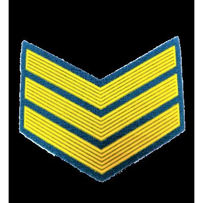 Шеврон (курсовка) 3 курс, пластизоль, голубой (7-3-038)