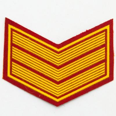 Шеврон (курсовка) 3 курс, пластизоль, красный (7-3-019)