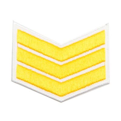 Шеврон (курсовка) 3 курс, вышивка, белый (7-3-018)