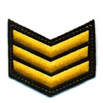 Шеврон (курсовка) 3 курс, вышивка, черный (7-3-017)