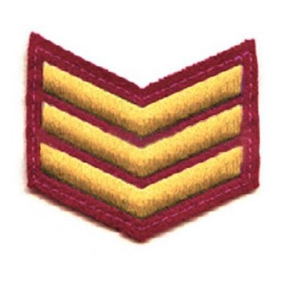 Шеврон (курсовка) 3 курс, вышивка, красный (7-3-015)