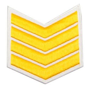 Шеврон (курсовка) 4 курс, вышивка, белый (7-3-025)