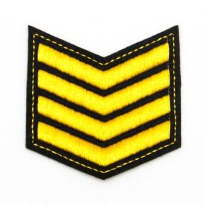 Шеврон (курсовка) 4 курс, вышивка, черный (7-3-024)