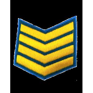 Шеврон (курсовка) 4 курс, вышивка, васильковый (голубой) (7-3-044)