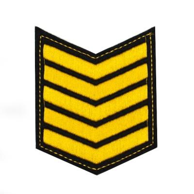 Шеврон (курсовка) 5 курс, вышивка, черный (7-3-031)