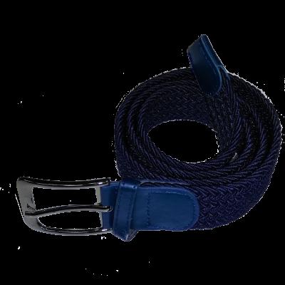 Ремень брючный тканевый плетеный,синий (4-1-020)