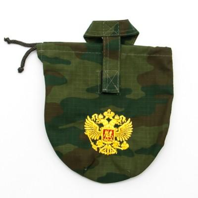 """Чехол для армейской фляги камуфлированный, """"флора"""", вышивка """"Орел"""" (8-1-021)"""