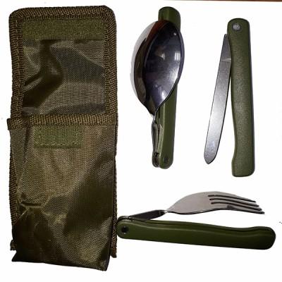 Столовый набор (отдельно ложка, вилка, нож), в чехле (8-1-068)